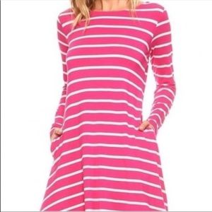Dresses & Skirts - Striped Swing Dress with pockets